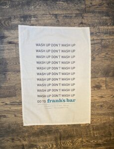 Frank's Bar tea Towel