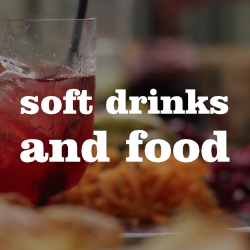 Soft drinks and food